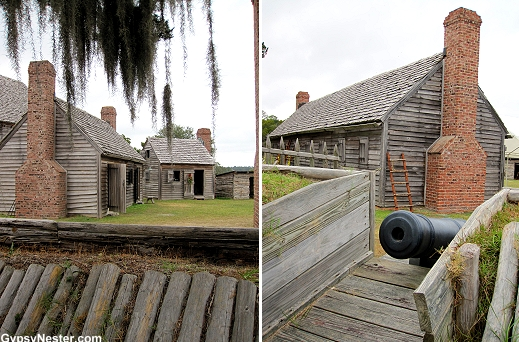 Fort King George in Darien, Georgia