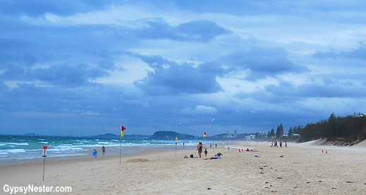 The beach in front of Peppers Broadbeach, Gold Coast, Queensland, Australia