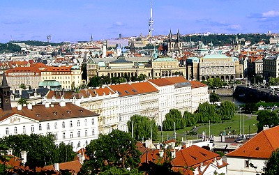 View of Prague from atop the Castle