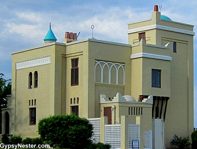 Villa Katherine, a Moorish styled castle perched above the Mississippi River in Quincy Illinois