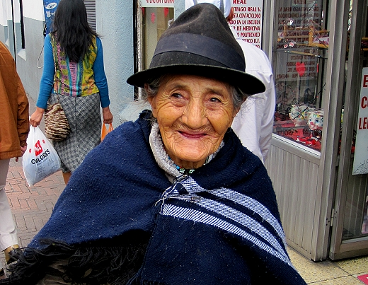 Woman smiling in Quito Ecuador
