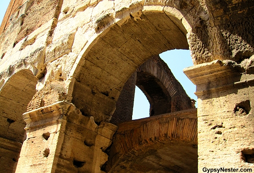 Arch upon arch The Colosseum in Rome, Italy