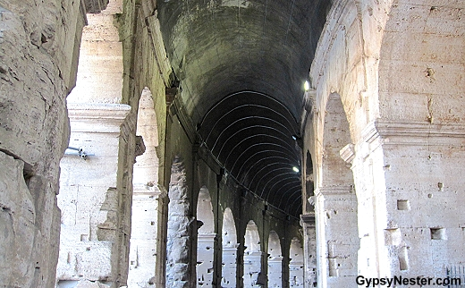 Entering The Colosseum in Rome