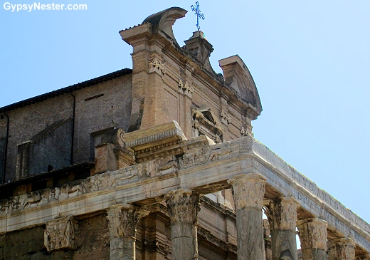The church of San Lorenzo in Miranda at The Forum in Rome