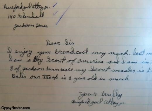 Very cute letter from a child to Franklin D. Roosevelt