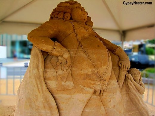 Emperor at the Sand Sculpting Championships in Gold Coast, Queensland, Australia