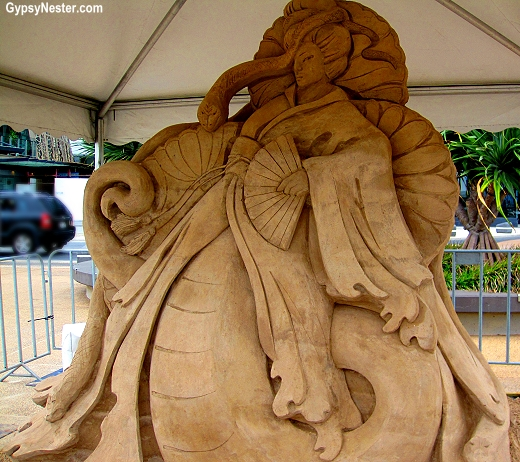 Fans at the Sand Sculpting Championships in Gold Coast, Queensland, Australia