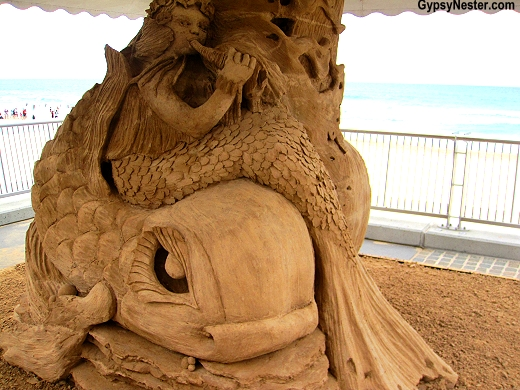 Mermaid at the Sand Sculpting Championships in Gold Coast, Queensland, Australia