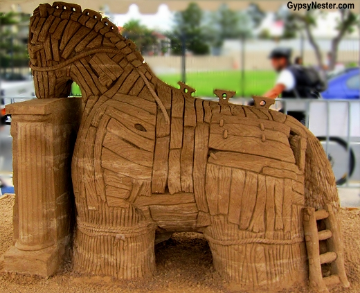 Trojan Horse at the Sand Sculpting Championships in Gold Coast, Queensland, Australia