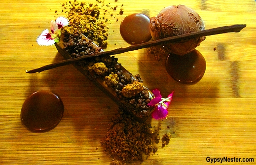 Milk Chocolate & Coffee Marquise, Salted Caramel, Hazelnut Soil, Dark Chocolate Ice Cream at Social Eating House + Bar, Gold Coast, Queensland