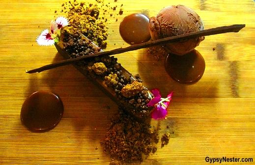 Milk Chocolate & Coffee Marquise, Salted Caramel, Hazelnut Soil, Dark Chocolate Ice Cream at Social Eating House + Bar, Gold Coast, Queensland