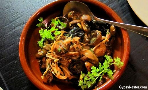 Seasonal Mushrooms, Sherry, Thyme, Garlic & Parsley at Social Eating House + Bar, Gold Coast, Queensland