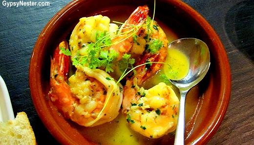 Tweed River King Prawns, Garlic, Cider, Herbs at Social Eating House + Bar, Gold Coast, Queensland