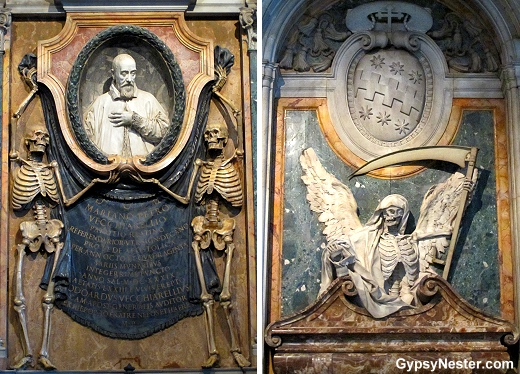 Skeletons in St. Peter in Chains in Rome
