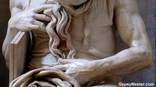 Detail of the torso of Moses in St. Peter in Chains, Rome