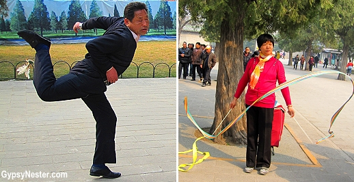 Interesting games being played near the Temple of Heaven in Beijing, China