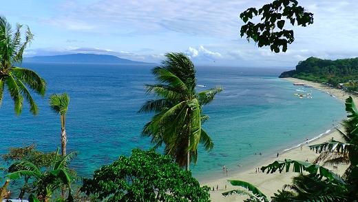Puerto Galera beach in the Philippines