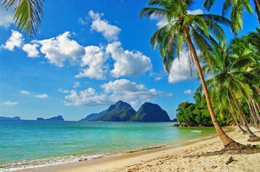 Palawan Island beach in the Philippines