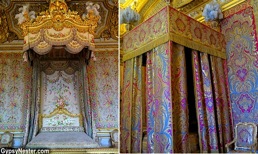 The royal beds at the Palace of Versailles
