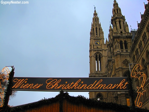 The Christmas Market in front of Town Hall in Vienna Austria