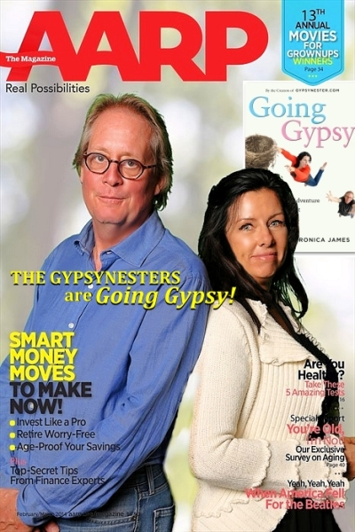 The GypsyNesters on the cover of AARP Magazine! Well, kind of.