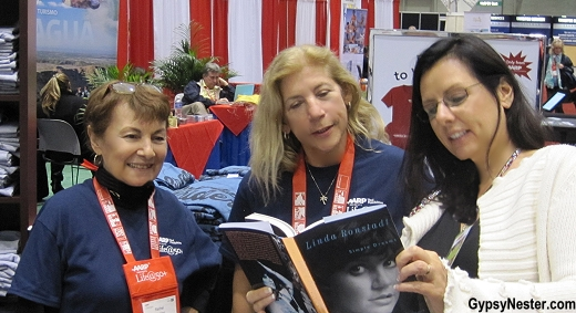 Hanging out in the AARP Bookstore at the Life@50+ Expo