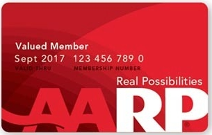 Travel savings with AARP card