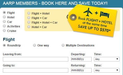 Save with AARP Travel Center