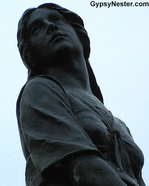 Statue of Evangeline at Grand-Pré National Historic Site, Nova Scotia, Canada