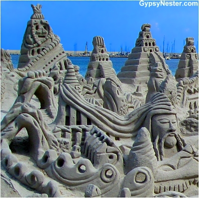 A beautiful sand scupture in Alghero, Sardinia, Italy