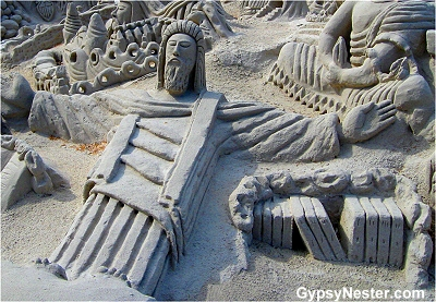The most amazing sand castle we've ever seen!