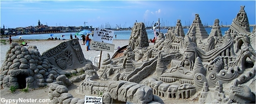 Theastonishing sand sculpture by Antonio Iannini, Alghero, Sardinia, Italy