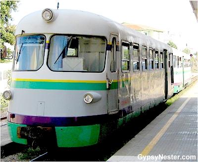 Sardinia's Little Green Train