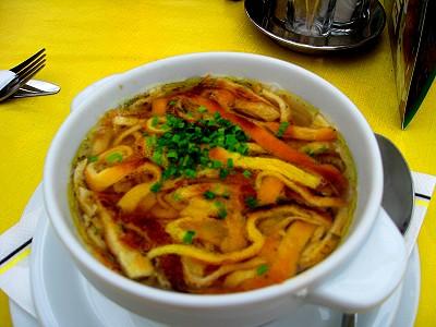 Flädlesuppe or Pancake Soup