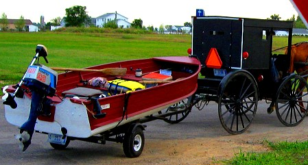 An Amish buggy in Elkhart County, Indiana