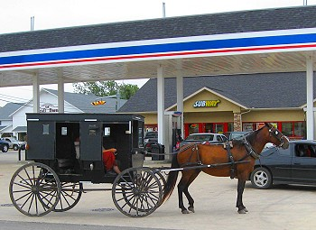 An Amish buggy in Elkhart County