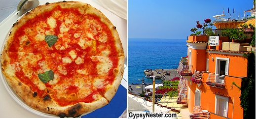 Pizza in Positano, Italy