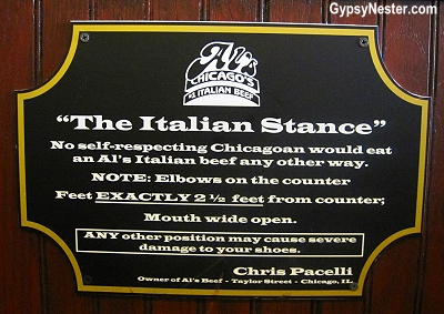 The Italian Stance: The rules for eating Italian Beef Sandwiches at Al's Beef in Chicago