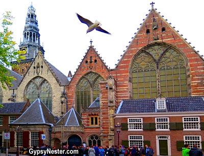 Oude Kerk, or Old Church, of Amsterdam, the oldest building in the city