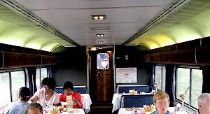 Dining Car on Amtrak's Southwest Chief