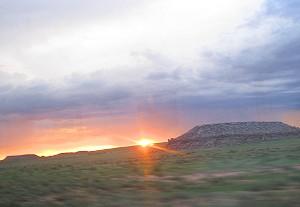 Arizona sunset from Amtrak's Southwest Chief