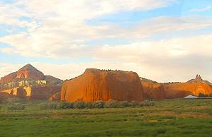 Arizona desert through the window of The Southwest Chief