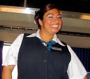 Our favorite Amtrak attendant - so far!