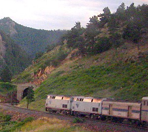 The California Zephyr in The Colorado Rockies