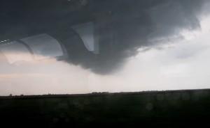 Heavy storm outside our Amtrak Train window - tornado?