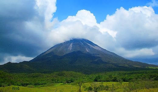The west side of Arenal Volcano in Costa Rica