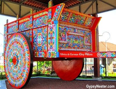 The world's largest ox cart in Sarchí, Costa Rica