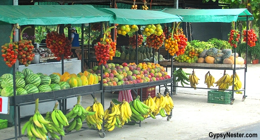 A fruit stand in Costa Rica