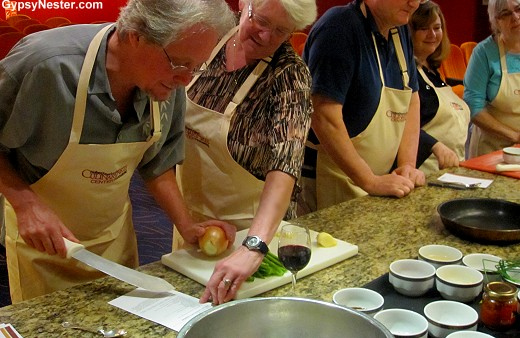 Chinese cooking class aboard Holland America's Volendam