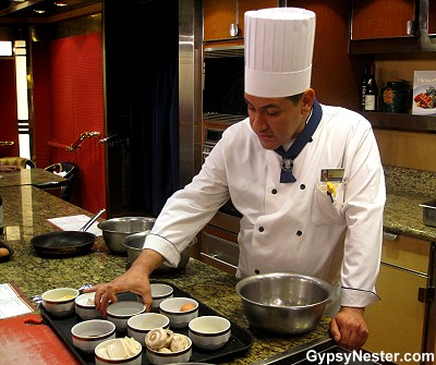 Chinese cooking class aboard the ms Volendam